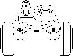 Hjulbremsecylinder, Bagaksel venstre
