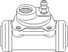 Reservdel:Citroen Ax 11 Hjulcylinder, Bak, Bak, höger, Höger