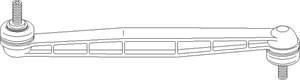 stang, stabilisator, Foran, høyre eller venstre, Høyre, Venstre