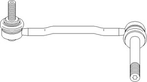 Stång/stag, krängningshämmare, Framaxel, Vänster fram, Vänster