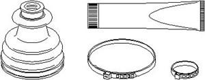 Reservdel:Citroen Ax 11 Dammskydd, drivaxel, Yttre, Höger fram, Vänster fram
