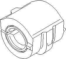 Reservdel:Citroen Zx Bussning, krängningshämmare, Fram, höger eller vänster