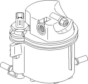 Reservdel:Citroen C3 Bränslefilter, Bak
