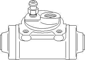 Hjulcylinder, Bak, vänster