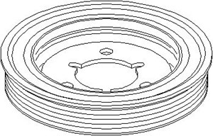 Reservdel:Citroen C3 Remskiva, vevaxel