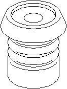 Reservdel:Citroen Zx Genomslagsgummi, stötdämpare, Fram, höger eller vänster