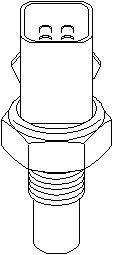 Reservdel:Citroen Xsara Kylvätsketemperatur-sensor