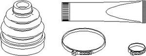 Reservdel:Citroen C3 Dammskydd, drivaxel, Inre, Vänster fram