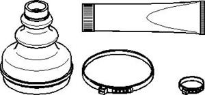 Reservdel:Peugeot 306 Dammskydd, drivaxel, Inre, Höger fram, Vänster fram