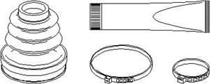 Reservdel:Citroen C3 Dammskydd, drivaxel, Inre, Höger fram, Vänster fram