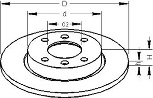 Brake Disc, Front, Rear axle