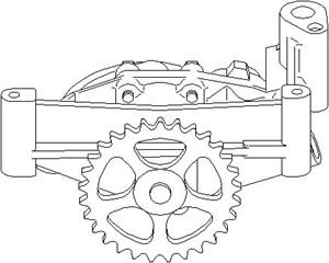 Reservdel:Citroen Ax 11 Oljepump