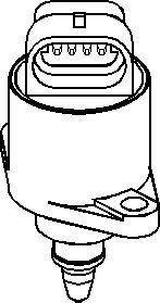 Reservdel:Citroen Ax 11 Tomgångsventil, lufttillförsel