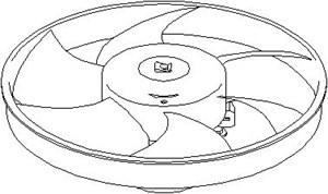Reservdel:Citroen Zx Fläkt, kylare