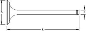 Reservdel:Citroen Ax 11 Avgasventil