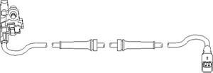 Sensor, hjulturtall, Bak, Bakaksel, Bak, høyre eller venstre, Høyre bakaksel, Venstre bakaksel