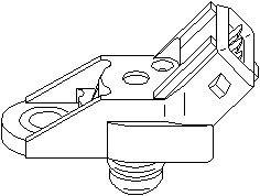 Reservdel:Citroen Zx Sensor, insugstryck, Fram, Höger eller vänster
