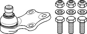 Kulled / Spindelled, Ytter, Fram, höger eller vänster, Höger eller vänster, Nedre framaxel, Nedre