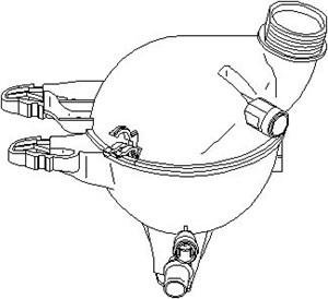 Reservdel:Citroen C3 Expansionskärl, kylvätska