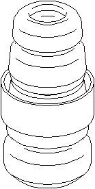 Reservdel:Citroen C8 Genomslagsgummi, stötdämpare, Fram, höger eller vänster