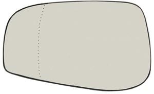 Reservdel:Volvo V70 Spegelglas, yttre spegel, Vänster