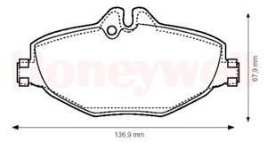 Reservdel:Mercedes 200 Bromsbeläggsats