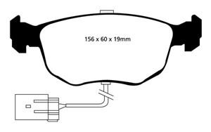 Reservdel:Ford Escort Bromsbeläggsats REDSTUFF, Fram