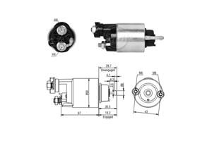 Magnetswitc, startmotor