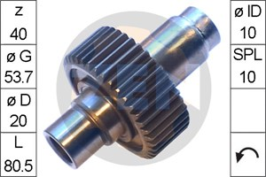 Frihjulsväxel, startmotor