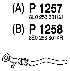 Audi A4 S4 96 01 B5 moreover Catalyst Converter P735399 in addition Jetta Golf 995 05 Mk4 furthermore Exhaust Pipe P64928 also Passat 98 05 B5 55. on audi a4 2 8 driver seat