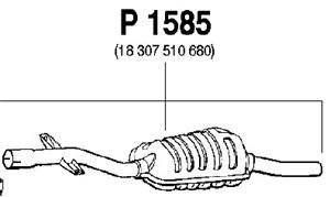 Reservdel:Bmw 318 Mittenljuddämpare, Mitt