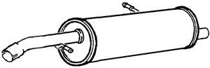 Reservdel:Citroen C3 Bakre ljuddämpare, Bak