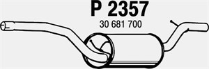 Reservdel:Volvo C30 Bakre ljuddämpare, Bak