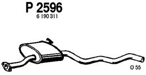 Reservdel:Ford Sierra Mittenljuddämpare, Mitt