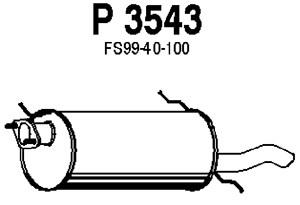 Reservdel:Mazda 626 Bakre ljuddämpare, Bak