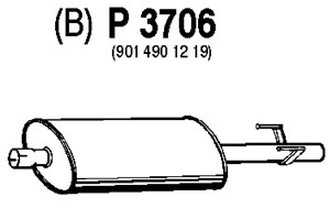 Reservdel:Mercedes Sprinter Mittenljuddämpare, Mitt
