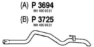 Reservdel:Mercedes Sprinter Avgasrör, Bak