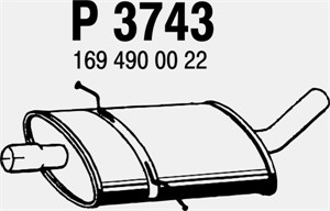 Reservdel:Mercedes A 180 Mittenljuddämpare, Mitt