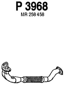Avgasrör, Fram. Avgassystem Standard - Avgasrör, Fram från