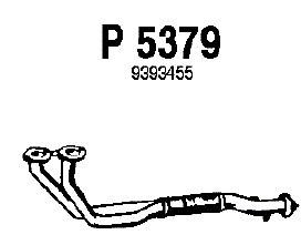 Reservdel:Saab 9000 Avgasrör, Fram