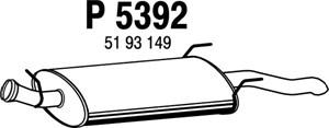 Reservdel:Saab 9-3 Bakre ljuddämpare, Bak
