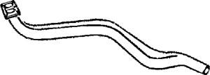 Reservdel:Audi 80 Avgasrör, Fram