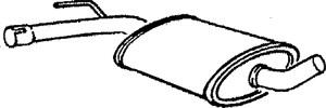 Reservdel:Volkswagen Passat Mittenljuddämpare, Mitt