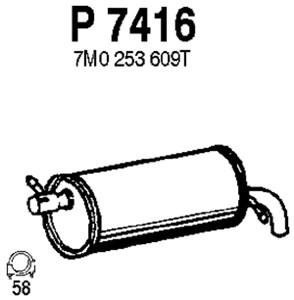 Reservdel:Ford Galaxy Bakre ljuddämpare, Bak