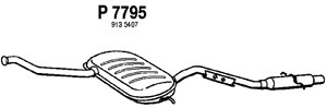 varaosat:Volvo S70 Takaäänenvaimentaja, Takana