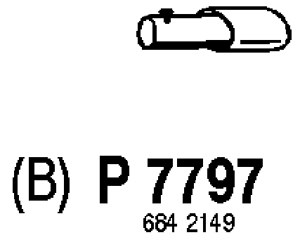 Reservdel:Volvo V70 Avgasrör, Bak