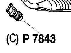 Reservdel:Volvo 850 Avgasrör, Fram