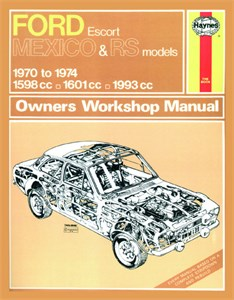 Haynes Reparationshandbok, Ford Escort Mk I RS 1600, RS 2000, Ford Escort Mk I Mexico, RS 1600 & RS 2000