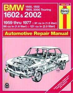 Haynes Reparationshandbok, BMW 1500-2002, BMW 1500, 1502, 1600, 1602, 2000 & 2002
