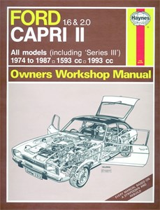 Haynes Reparationshandbok, Ford Capri II (& III) 1.6 & 2.0, Universal